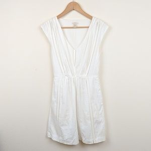 J. Crew Shelby Dress 0 white cut out 100% cotton